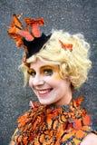 Effie Trinket Jeux de faim Cosplay photos stock