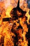 Effigie brûlante photo libre de droits