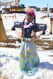 Effigie dell'inverno durante la festa Fotografia Stock