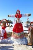 Effigie dell'inverno su una festa nazionale Immagini Stock