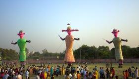 Effigies of Ravan on Dusherra. Just before burning at Faridabad, India on 28 Sep 2009 Royalty Free Stock Images