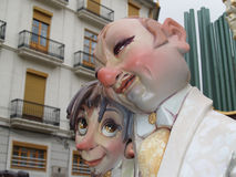 Effigies in the Street during the annual Celebration of Las Fallas, Valencia, Spain. File Photo:nnThe Falles (Valencian: [ˈfaʎes] ( listen), sing. Falla), or Royalty Free Stock Photography