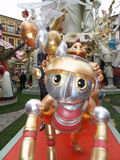 Effigies in the Street during the annual Celebration of Las Fallas, Valencia, Spain Stock Image
