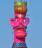 Effigy of Ravana. Close up of colorful effigy of Ravana during dussehra festival in India Stock Photo