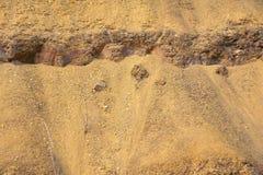 Efflorescent rocks. The close-up of efflorescent rocks Stock Image