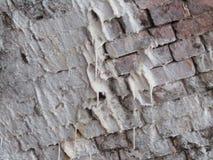 Efflorescentie die en van bakstenen behandelen druipen stock foto