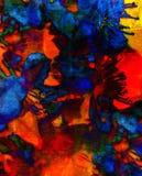 Efflorescenza astratta del materiale illustrativo Fotografia Stock Libera da Diritti