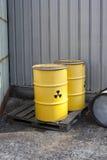 Effluenti radioattivi abbandonati Immagine Stock