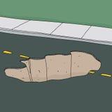 Effondrement dans la route illustration stock