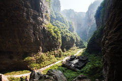 Effondrement dans le wulong, Chongqing, porcelaine Photos stock