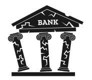 Effondrement de banque illustration stock