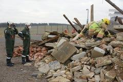 Effondrement de construction, zone de catastrophe photo libre de droits