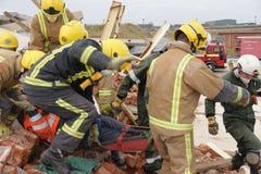 Effondrement de construction, zone de catastrophe images stock