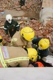 Effondrement de construction, zone de catastrophe photo stock