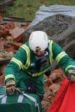 Effondrement de construction, zone de catastrophe image libre de droits