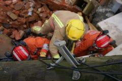 Effondrement de construction, zone de catastrophe photos libres de droits