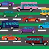 Effondrement de route et fond d'embouteillages avec Photographie stock libre de droits