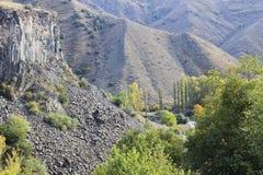 Effondrement des colonnes de basalte Photo libre de droits