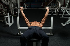 Effort On The Bench Press Royalty Free Stock Photos