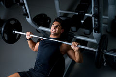 Effort on the bench press Stock Image