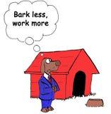 Effort. Dog says, 'bark less, work more Royalty Free Stock Photos