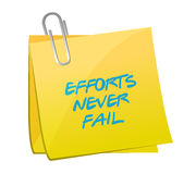 Effort never fail post illustration design Royalty Free Stock Photos