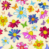 Effortless pink floral pattern Royalty Free Stock Image