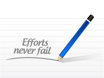 Efforts never fail message illustration Royalty Free Stock Photo