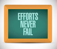Efforts never fail message illustration Stock Photo
