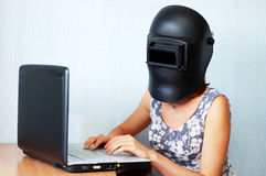 Effrayé des virus ? Images libres de droits