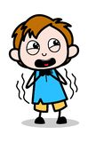 Effrayé - illustration de vecteur de personnage de dessin animé d'écolier illustration de vecteur
