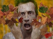 Effrayé de l'automne ! Photographie stock