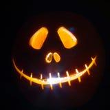 Effrayant les potirons découpés pour Halloween Photos stock
