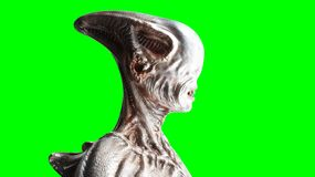 Effrayant, monstre d'horreur Concept de crainte écran vert, isolat rendu 3d illustration stock