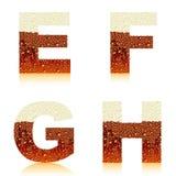 efgh темноты пива алфавита Стоковое Изображение