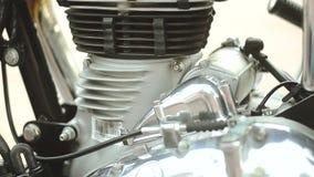 Efi lateral 500 del motor de la cacerola 01 de la motocicleta almacen de metraje de vídeo
