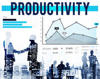 A eficiência da produtividade figura o conceito de fluxo do trabalho imagem de stock