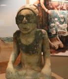 Efigies de mármol de la mujer del arrodillamiento del montón de Etowah Imagen de archivo