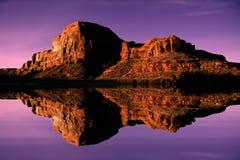 Eflections del fiume Fotografia Stock