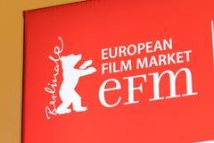 EFM europejczyka filmu rynku czerwieni sztandar obraz royalty free