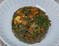 Efo riro med getkött Arkivfoto