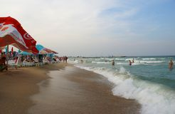 Eforie Nord Beach at the Black Sea Royalty Free Stock Photos