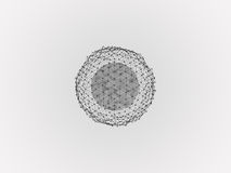 Eformation sphere surrounded by dots Royalty Free Stock Photo