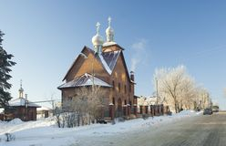 Efremov city. Church of Nikolay Chudotvorets Stock Image