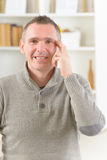 EFT tapping points. Man doing EFT on the side of eye point. Emotional Freedom Techniques, tapping, a form of counseling intervention that draws on various royalty free stock photos