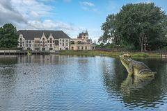 Efteling主题乐园的剧院在荷兰 库存图片