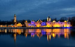 Efteling by night Royalty Free Stock Photography