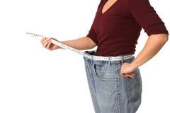 efter att ha förlorat vikt Arkivbild