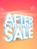 Efter den julSale affischen, banret eller reklambladet Royaltyfria Foton
