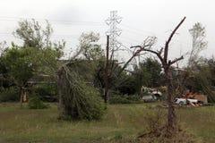 Efter en allvarlig storm arkivbilder